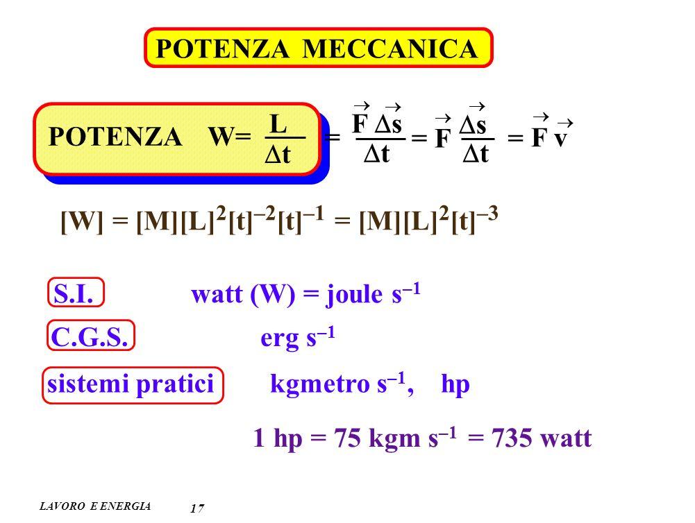 [W] = [M][L]2[t]–2[t]–1 = [M][L]2[t]–3